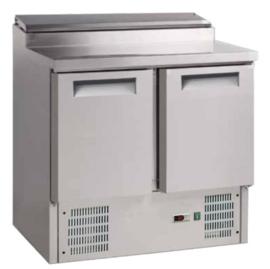 Saladette 2-deurs RVS met 5x GN1/6  prepareer unit