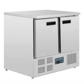 Gekoelde rvs koelwerkbank 2-deurs