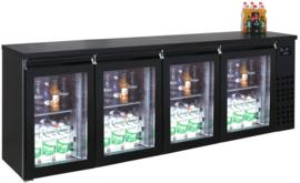 Barkoeler | barkoeling met 4 glasdeuren 95 cm hoog