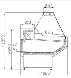 Koeltoonbank | koelvitrine  150 cm breed