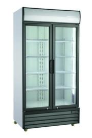 Bedrijfskoelkast | Horeca koelkast met 2 glasdeuren
