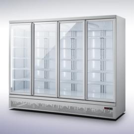 Bedrijfskoelkast met 4 glazen deuren