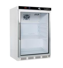 Kleine opzet koelkast met glasdeur