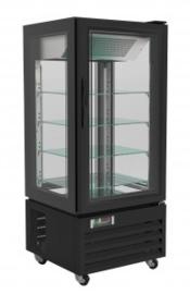 Koelvitrine | Gebaksvitrine zwart 150 cm hoog