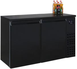Barkoelkast | Barkoeling met 2 deuren zwart 95cm Hoog