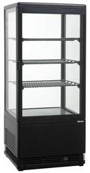 Mini-koelvitrine 78L, zwart
