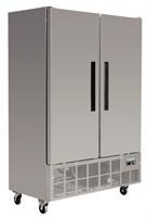 RVS Bedrijfsvrieskast 2 deurs   960 Liter