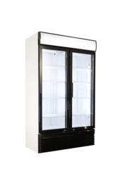 Display Koelkast met 2 glazen deuren