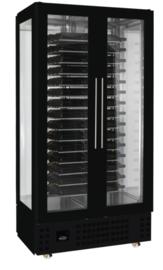 Wijnkoelkast zwart voor 120 Flessen hoog 206 cm
