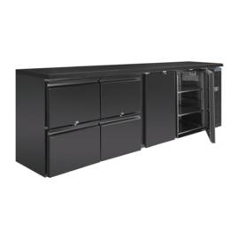 Barkoeling | Barkoelkast 2 deuren en 4 laden