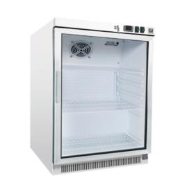 Stalen koeling 200 liter met glasdeur, statisch gekoeld zonder ventilator