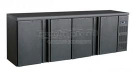Barkoelkast met 4 dichte deuren 86 cm hoog