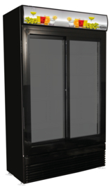 Horeca koelkast met 2 Glazen schuifdeuren