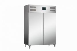 Professionele koelkast RVS 2 deuren
