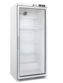 Horeca koeling 600 liter met glasdeur, statisch gekoeld met ventilator