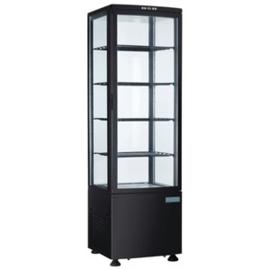 Koelvitrine met gebogen glasdeur Zwart - 235ltr