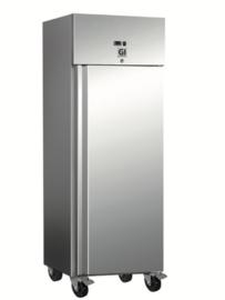 RVS koeling 600 liter, geforceerd gekoeld