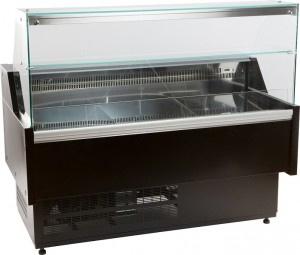 Koeltoonbank | Koelvitrine zwart  158,4cm breed