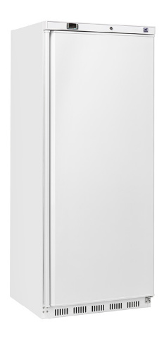 Horeca vrieskast wit, 600 liter vrieskast, statisch gekoeld met ventilator.