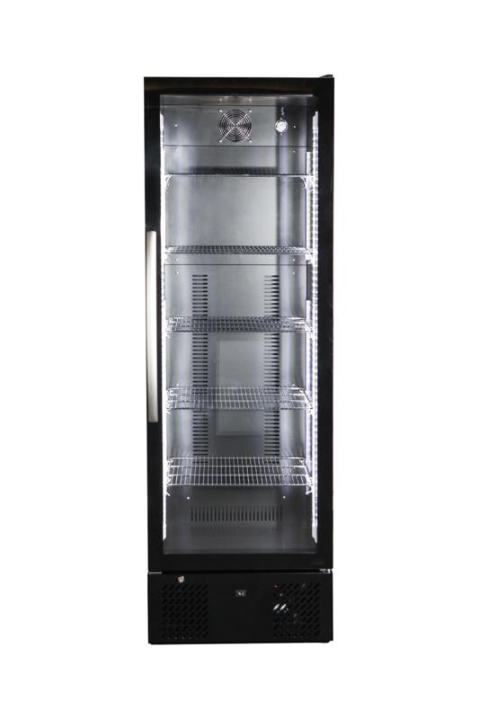 Horeca koelkast zwart  met  glazen deur