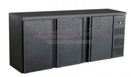 Barkoelkast, Onderbouw koelkast 3 deuren zwart
