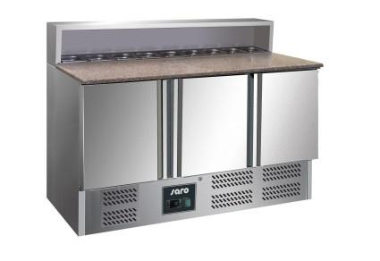 Pizzakoelwerkbank RVS met 3 Deuren