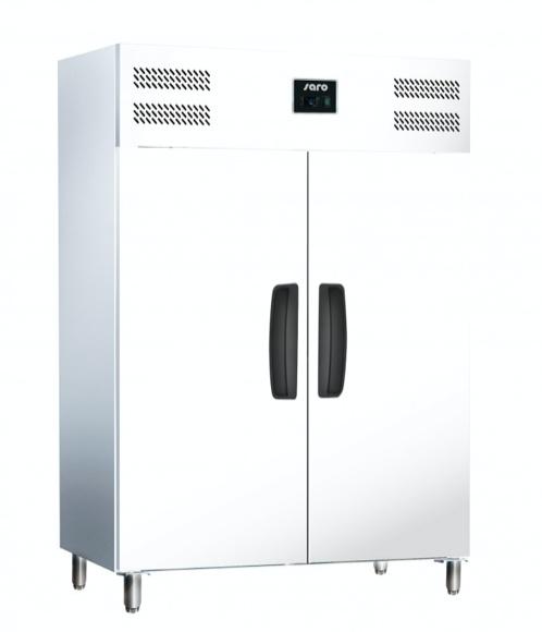 Professionele koelkast 2 deuren - 1/1 GN wit plaatstaal 1172 liter