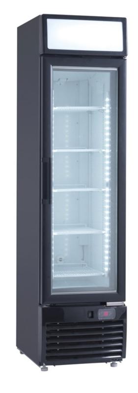 Horeca Vrieskast met glasdeur smal model 173 liter