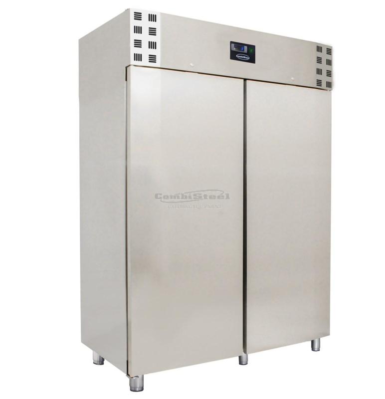 RVS bedrijfsvrieskast 2 deuren 1200 liter