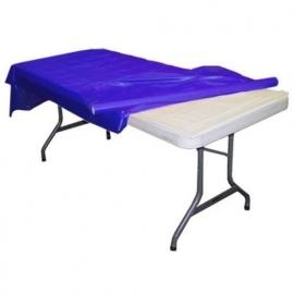 Plastic tafelkleed op rol blauw