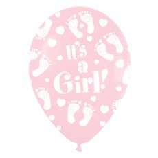 Ballon it's a girl voetjes