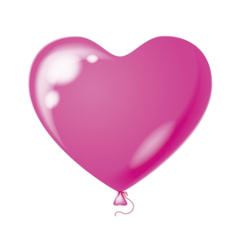 Harten ballonnen fuchsia