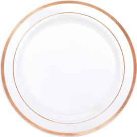 Rosé Goud / Wit Plastic Lunchborden