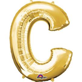 Folieballon letter C goud
