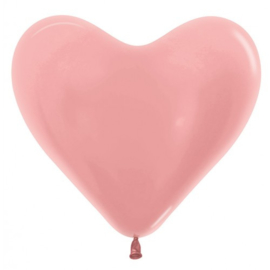 Harten Ballonnen Metalic Rosé Goud