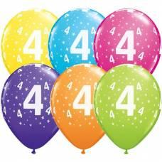 Helium ballon leeftijd 4 jaar