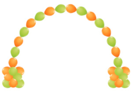 Link-O-Loon Ballonnenboog met pilaren