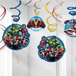 Mighty Avengers Hanging Swirls
