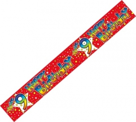 9 Today Rainbow Stars Banner