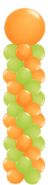 Ballonnenpilaar large met topballon