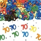 70th Birthday Metallic  Confetti Assortie