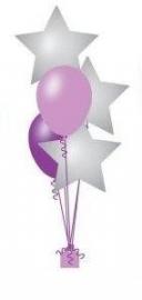 5 Ballonnenboeket met folie ballon