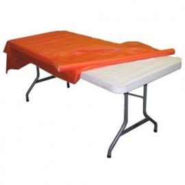 Plastic tafelkleed op rol oranje