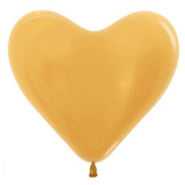 Harten Ballonen Metalic Goud