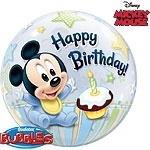 Mickey Mouse 1st Birthday Bubble Ballon
