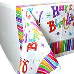 Plastic Tafelkleed Happy Birthday
