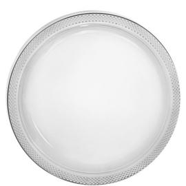 Plastic Dessert en Lunchbord Transparant