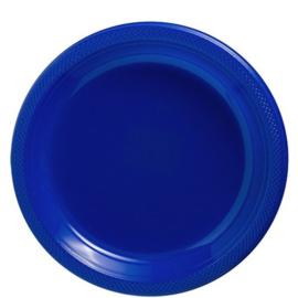 Plastic Dessert en Lunchbord  Donker Blauw