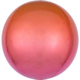 Omber Rood / Oranje Orbz Ballon