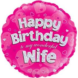 Happy Birthday Wife  Foil